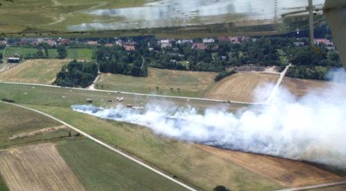 Luftaufnahme Flächenbrand